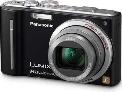 LUMIX 12.1 MP Digital Camera with 16x Intelligent Zoom (Black) - OPEN BOX
