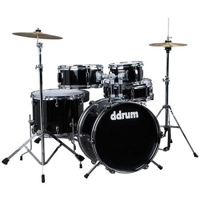 D1MB D1 JR Complete 5-piece Drum Set, Black