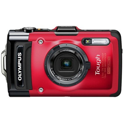 STYLUS TG-2 iHS 12MP 4x Wide/8x SR Zoom 1080p HD Digital Camera -  Red