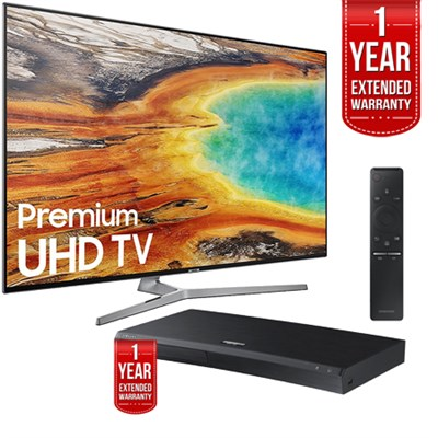 UN75MU9000FXZA 74.5` UHD Smart LED TV 2017 + Blu-ray Player + Extended Warranty
