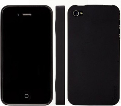 Snap Slim Case for iPhone 4 with 2 Screen Protectors (Black)