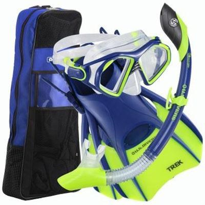 Small Admiral LX/Island Dry LX/Trek/Travel Bag Set in Cobalt Blue - 261229