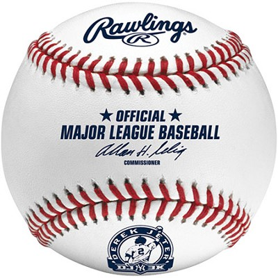 ROMLBDJ3K-R - Official Baseball Derek Jeter 3000 hits DJ3K w/ Display Cube