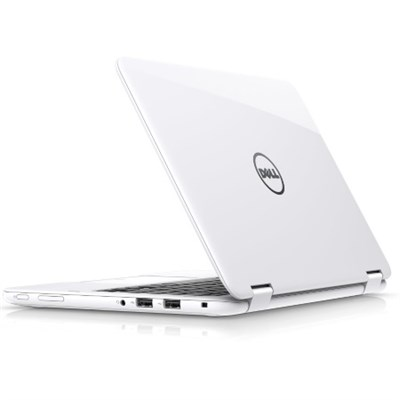 Inspiron i3168-3273WHT 11.6` HD Intel Pentium N3710 2-In-1 Laptop/Tablet, White