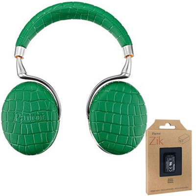 Zik 3 Wireless Noise Cancelling Bluetooth Headphones (Green) + Battery