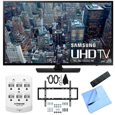 UN55JU6400 - 55-Inch 4K Ultra HD Smart LED HDTV Slim Flat Wall Mount Bundle