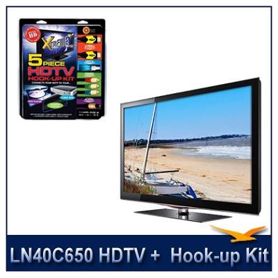LN40C650 - 40` HDTV + High-performance HDTV Hook-up & Maintenance Kit