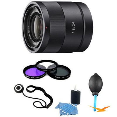 SEL24F18Z - Carl Zeiss 24mm f/1.8 Lens Essentials Kit with Filter Kit and More