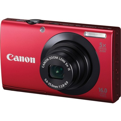PowerShot A3400 IS 16MP Red Digital Camera 5x Optical Zoom 3 inch Touch Panel