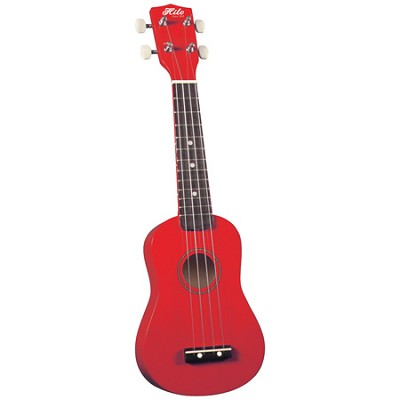 Soprano Ukulele with Carry Bag - Red