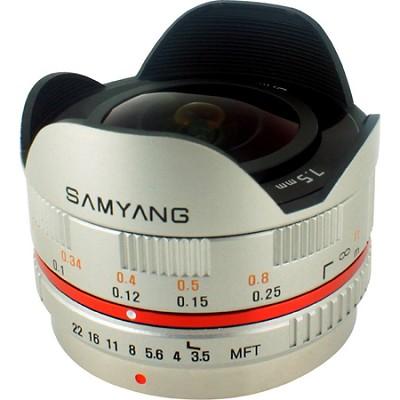 7.5mm F3.5 UMC Ultra Wide-Angle Fisheye CS Lens for Micro 4/3 - Silver