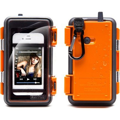 Eco Pod Rugged and Waterproof Case for MP3 players and Smartphones - Orange