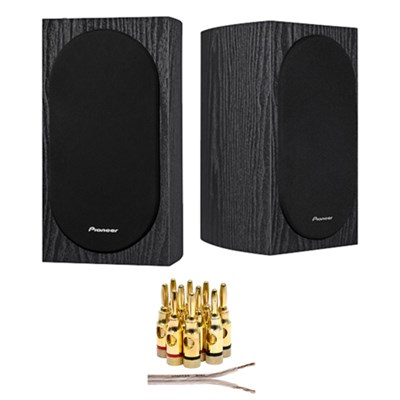 Andrew Jones Designed 4` 2-Way Speakers (Pair) + Wire + Banana Plugs