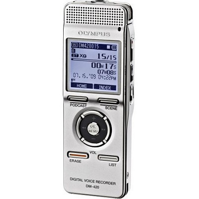 DM-420 Digital Voice Recorder with MP3 Player - REFURBISHED