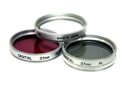 34mm UV, Polarizer & FLD Deluxe Filter kit (set of 3 + carrying case)
