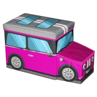 Mini Car Ottoman Pink