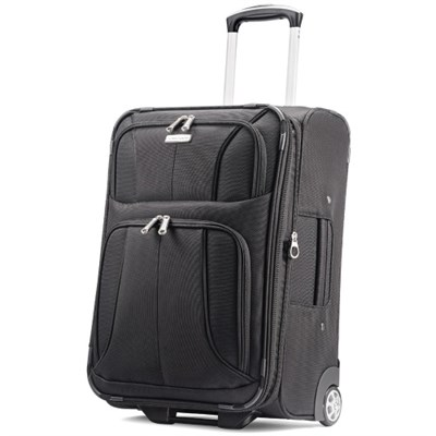 Aspire XLite 21.5` Upright Expandable Luggage (Black)