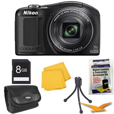 COOLPIX L620 18.1 MP CMOS 14x Zoom 1080p HD Black Digital Camera Kit