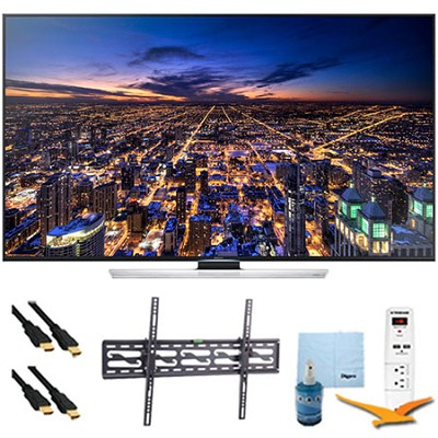 UN65HU8550 - 65 inch 4K 3D Smart Ultra HDTV Plus Tilt Mount & Hook-Up Bundle