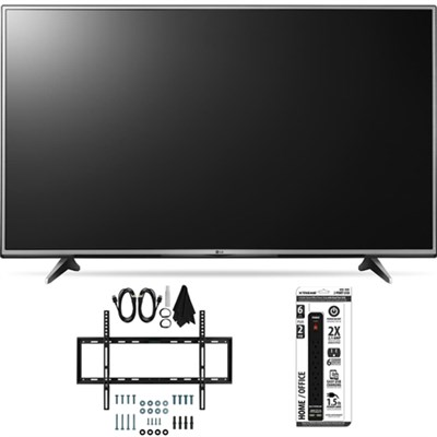 55UH6150 55-Inch 4K UHD Smart TV with webOS 3.0 Slim Flat Wall Mount Bundle