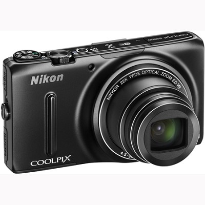 COOLPIX S9500 18.1 MP 22x Zoom Built-In Wi-Fi Digital Camera (Black) Refurbished