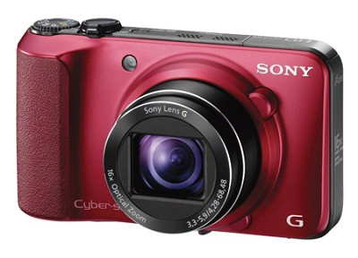 Cyber-shot DSC-HX10V (Red) 18.2 MP 16x Zoom 3D Sweep HD Video with Geotagging