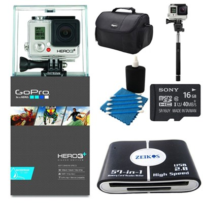 Camera HD HERO3+: Silver Edition Deluxe Kit
