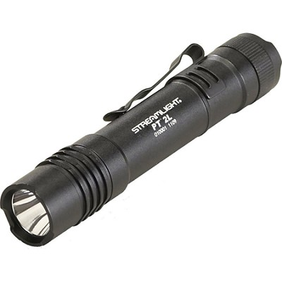 Protac Tactical Flashlight 2L w/ White LED Includes 2 CR123A Lithium Batteries