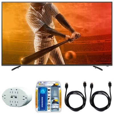 Aquos N1300 FHD 60` Class 1080p 60Hz WiFi Smart LED TV w/ Hook up Bundle