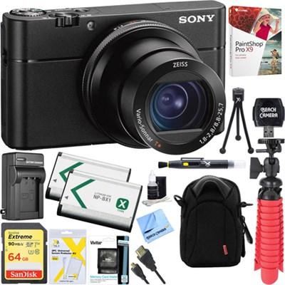 DSC-RX100M5A V A Cyber-shot Digital Camera + 64GB Dual Battery Accessory Kit