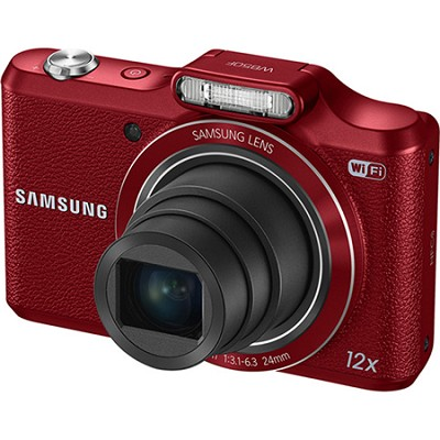 WB50F 16.2MP 12x Opt Zoom Smart Digital Camera - Red