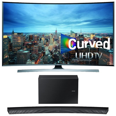 UN78JU7500 - 78-Inch 2160p 3D Curved 4K UHD Smart TV w/ HW-J7500 Soundbar Bundle
