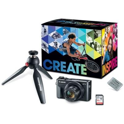 PowerShot G7 X Mark II 20.1MP 4.2x Optical Zoom Digital Camera Video Creator Kit