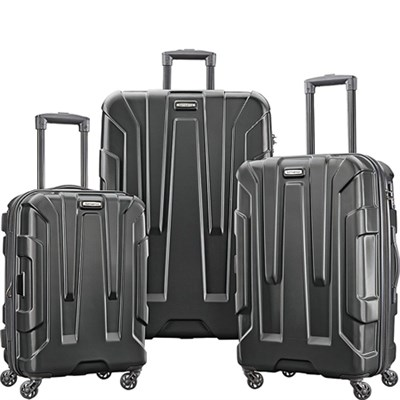 Centric 3pc Nested Hardside (20/24/28) Luggage Set, Black