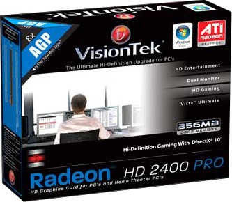 RADEON HD2400PRO AGP 256MB 2PORT DVI-I TV/HDTV/VGA ADAPT 270W