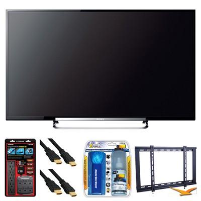 KDL-70R550A 70` 120Hz 3D WiFi 1080p LED HDTV Wall Mount Bundle