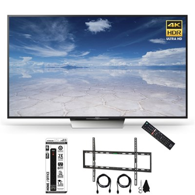 XBR-75X850D 75-Inch Class 4K HDR Ultra HD TV Flat Wall Mount Bundle