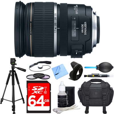 EF-S 17-55mm F/2.8 IS USM Wide Angle Zoom Lens Deluxe Accessory Bundle