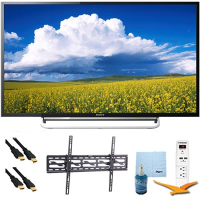 40` LED 1080p Smart HDTV 60Hz Tilt Mount & HookUp Bundle KDL40W600B