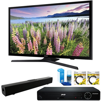 50` Full HD 1080p Smart LED HDTV + HDMI DVD Player & Sound Bar Bundle