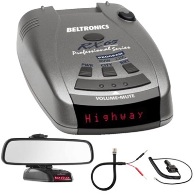 RX65 Red Professional Series Radar/Laser Detector w/ Mirror Mount Kit