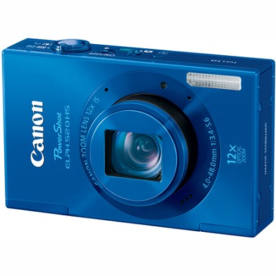 PowerShot ELPH 520 HS Blue 10.1 MP CMOS Digital Camera 12x Optical Zoom
