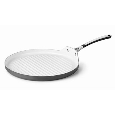13` Hard-Anodized Ceramic Nonstick Round Grill Pan - 1882021