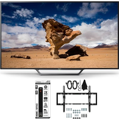 KDL-48W650D 48-Inch Class Full HD 1080P TV with Flat + Tilt Wall Mount Bundle