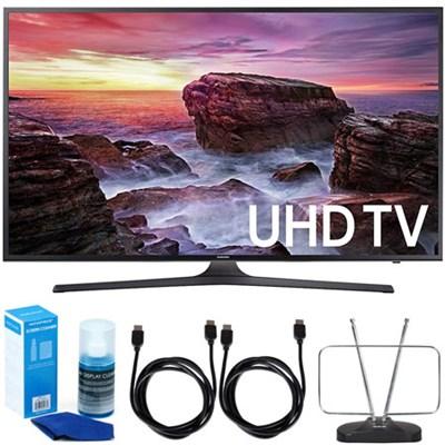 UN55MU6290FXZA 54.6` LED 4K UHD Smart TV (2017 Model) w/ Accessory Bundle