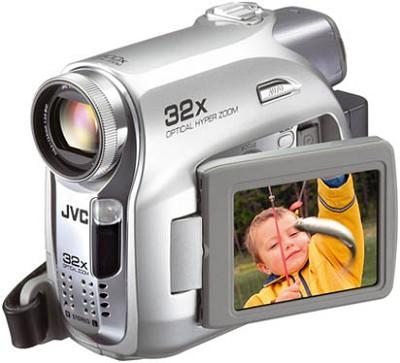 GR-D370US Mini DV Camcorder, 32x Optical Zoom, SD/MMC Card Slot, 2.5` LCD