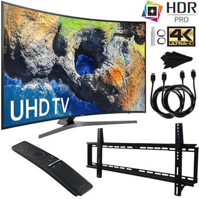 UN55MU7500FXZA 55` Curved 4K Ultra HD Smart LED TV (2017) + Wall Mount Kit