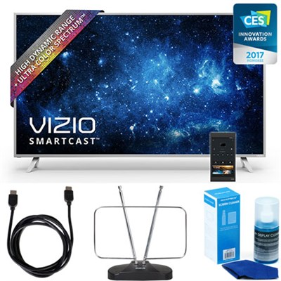 P55-C1 SmartCast 55` UHD HDR Home Theater Display TV w/ HDTV FM Antenna Bundle