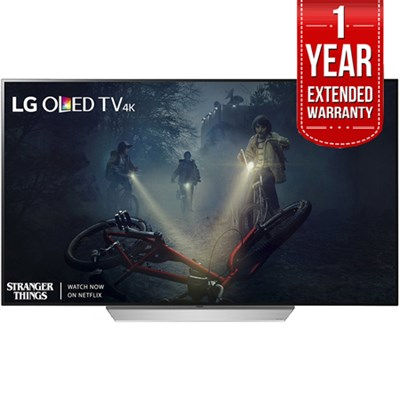 65` C7 OLED 4K HDR Smart TV (2017 Model) + Extended 1 Year Warranty Bundle