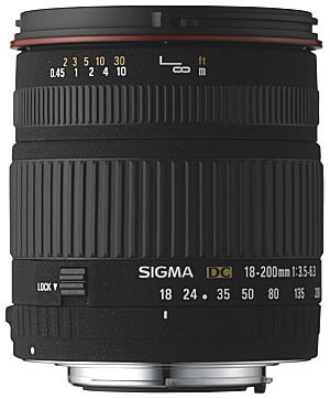 Wide Angle Zoom 18-200mm f/3.5-6.3D DC Aspherical (IF) Lens Nikon Digital